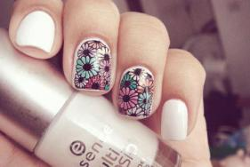 Spring ready nail art inspiration spread the style floral print nail art for college girls prinsesfo Images